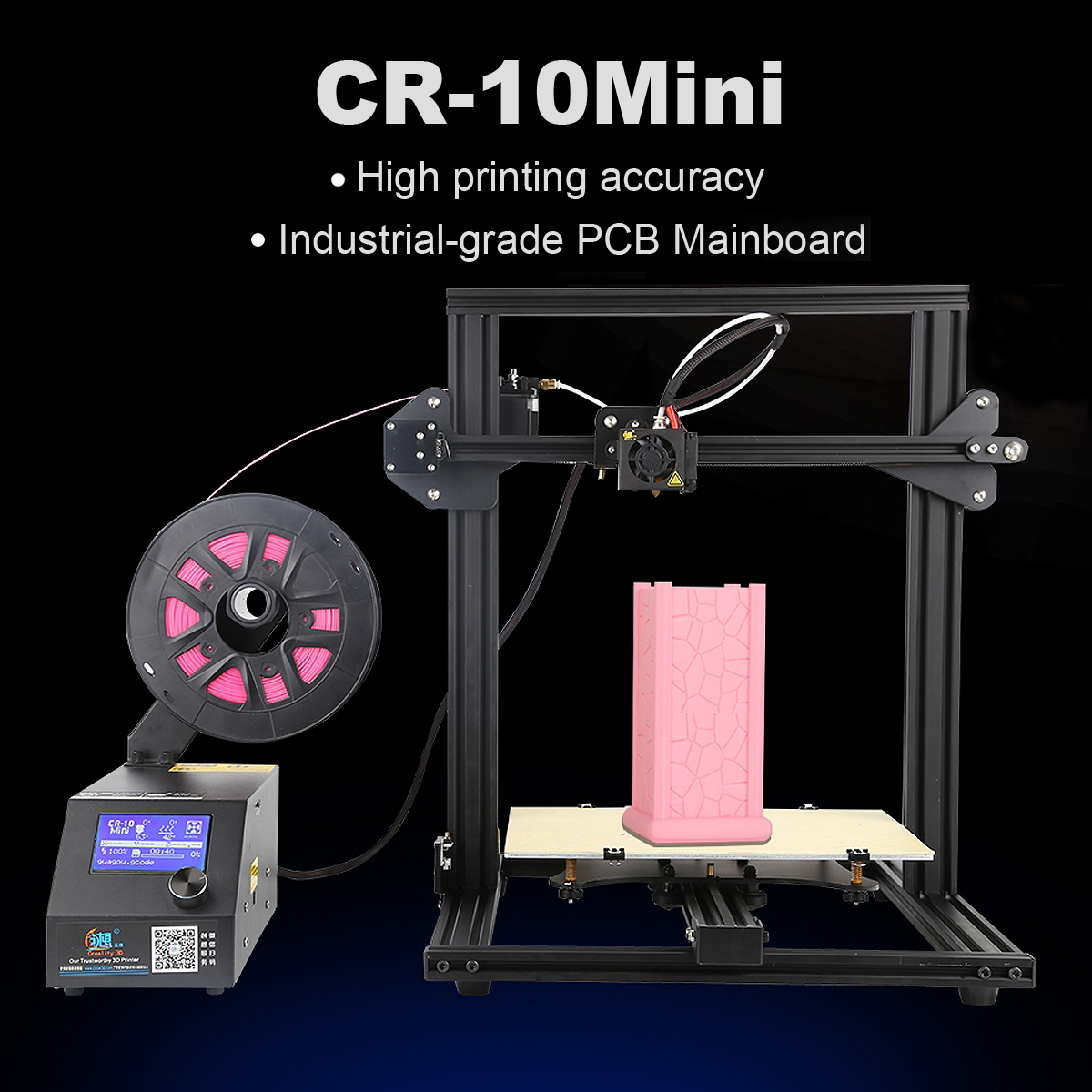 Creality 3D CR-10 Mini DIY 3D Printer Kit Support Resume Print 300*220*300mm Large Printing Size 1.75mm 0.4mm Nozzle