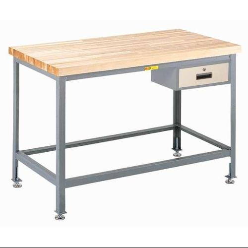 LITTLE GIANT WT2424-LL-DR Workbench, Maple, Top, w drwr 24x24 by Little Giant