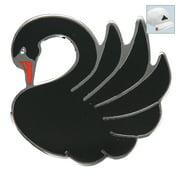 Bella Crystal Golf Ball Marker & Hat Clip - Cloisonne Swan - Black