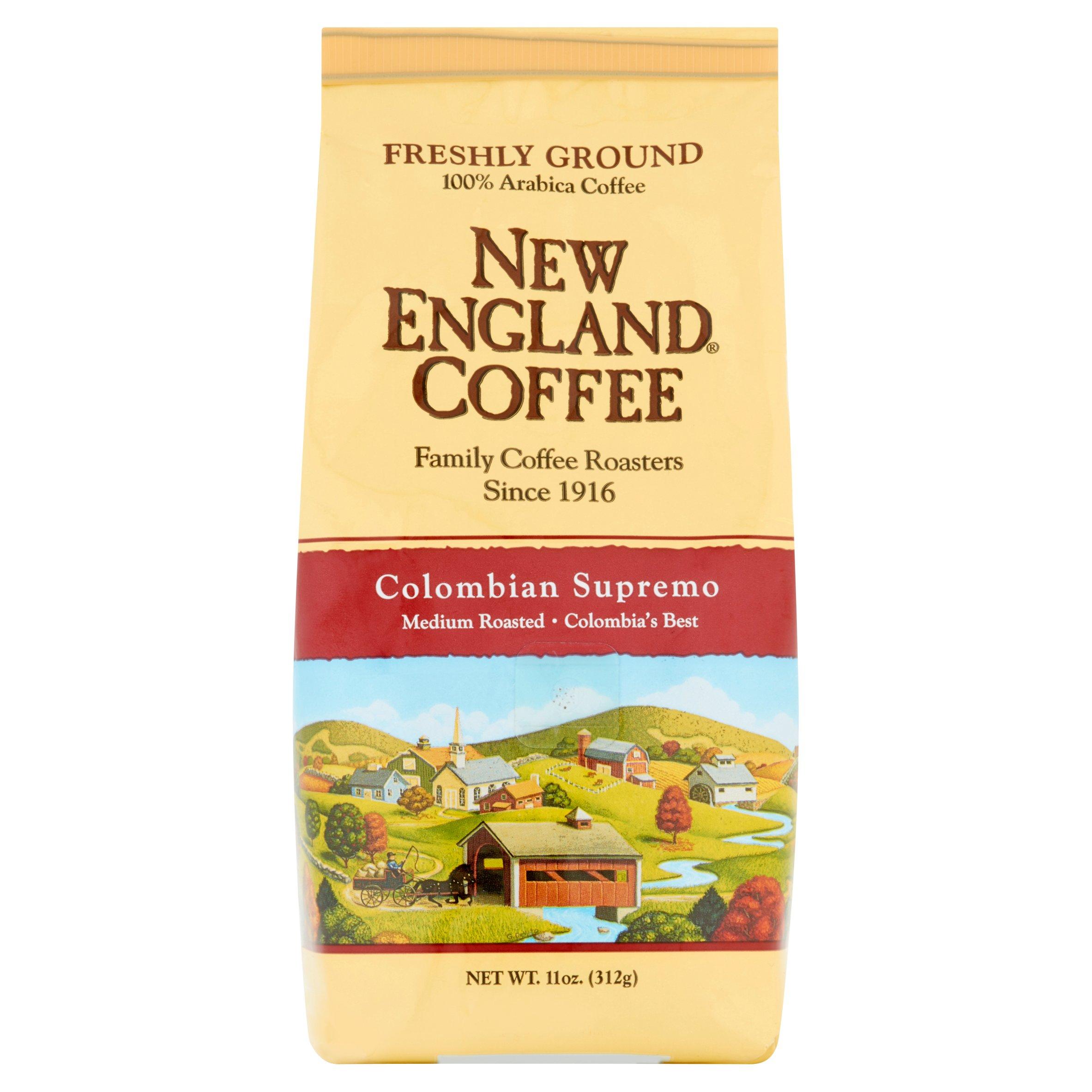 New England Coffee Colombian Supremo Ground Coffee, 11 oz