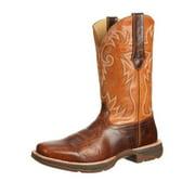 "Durango Western Boot Mens 12"" Rebel Ramped Up Square Toe Brown DWDB034"