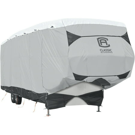 Classic Accessories OverDrive SkyShield Deluxe 5th Wheel Cover or Toy Hauler Cover, Fits 20' - 44'