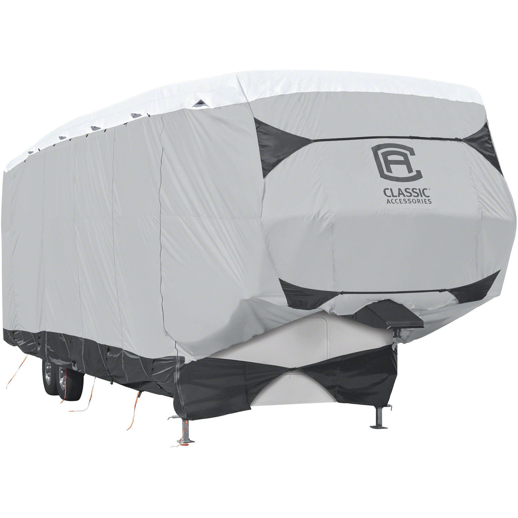 Classic Accessories OverDrive SkyShield Deluxe 5th Wheel Cover or Toy Hauler Cover, Fits 20' - 44' RVs