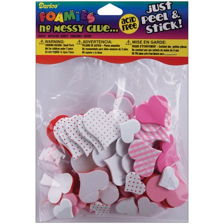 Foam Stickers Valentine Hearts, - Halloween Foam Stickers