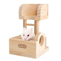 Pet Wooden Hamster Climbing Ladder Lookout Tower Pet Toys for Small Pets