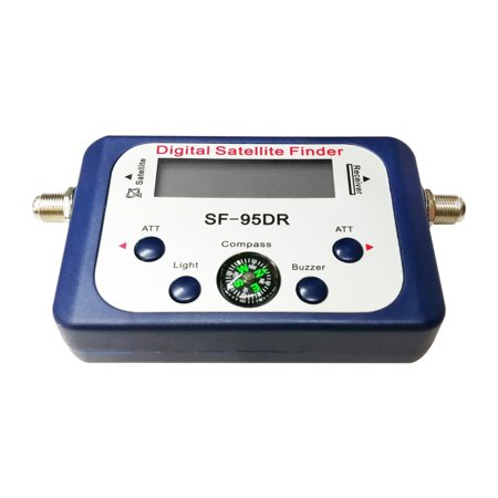 (Digital Displaying Satellite Finder Meter Satfinder TV Signal Receiver Decoder Satlink Receptor Buzzer Compass LCD FTA Dish)