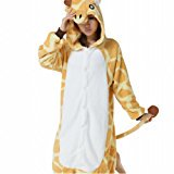 DragonPad Anime Pokemon Pikachu Romper Pajamas Costume Cosplay Outfit (large, giraffe) Size L - Misty Pokemon Outfit