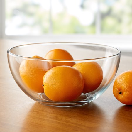 Mainstays 10-Inch Round Clear Glass Serving Salad Bowl](Glass Halloween Bowl)