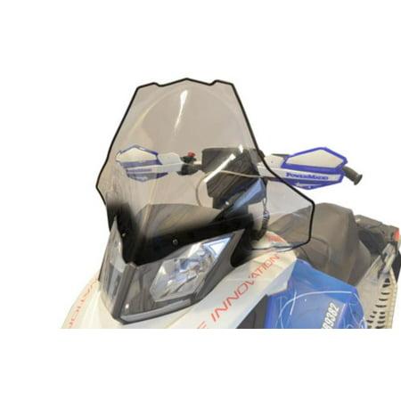Powermadd 13441 Cobra Windshield - 20in. - Clear with Black (Snowmobile Windshield Bag)