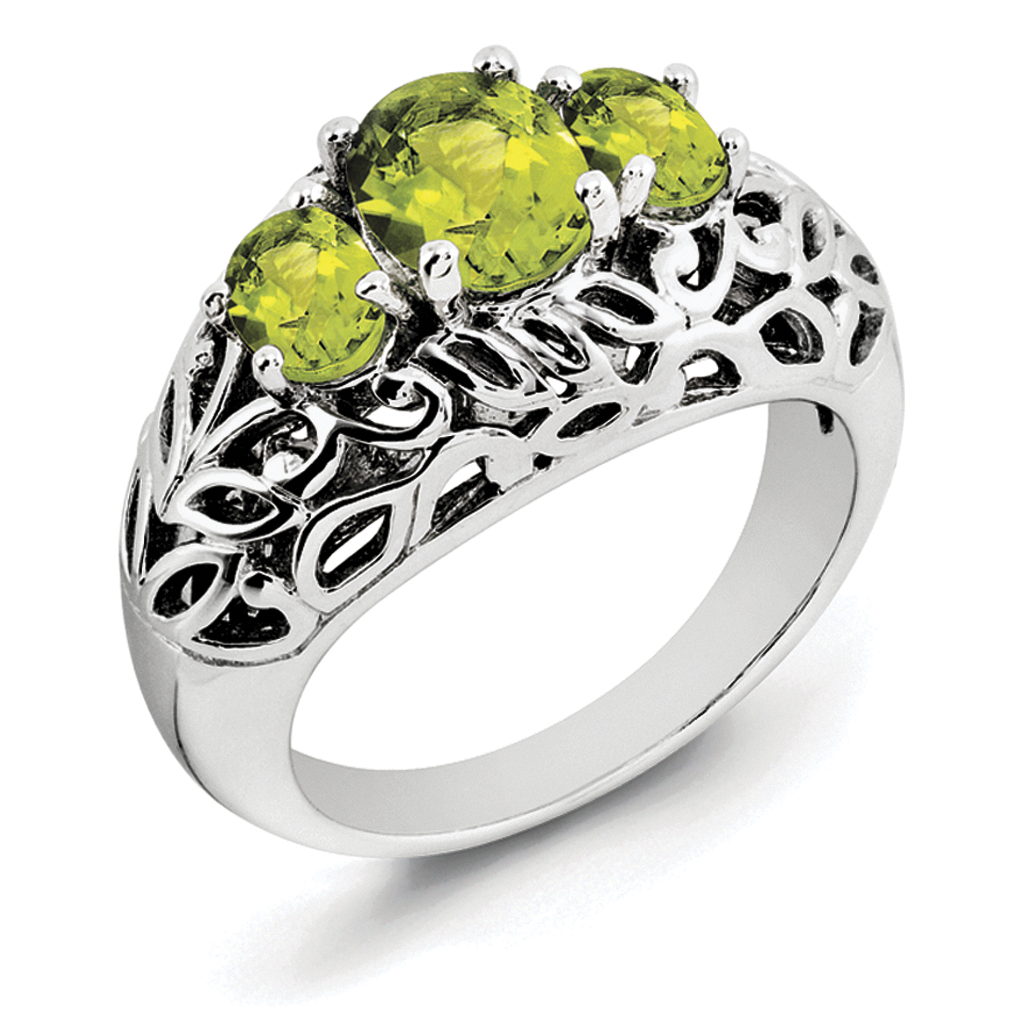 Sterling Silver Peridot Ring by