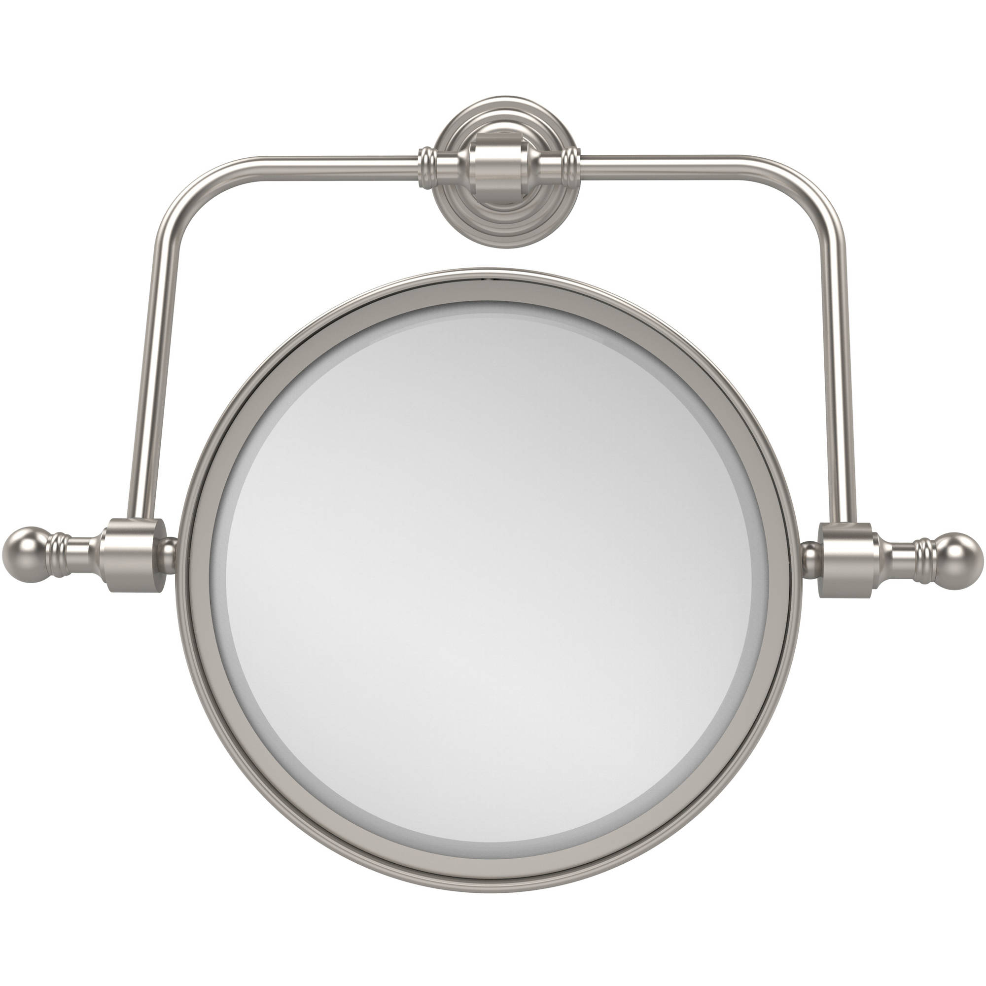 """Retro Wave Collection Wall-Mounted Swivel Make-Up Mirror, 8"""" Diameter with 2x Magnification (Build to Order)"""