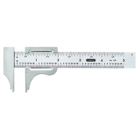 General Tools 729 Slide Caliper, 4-Inches