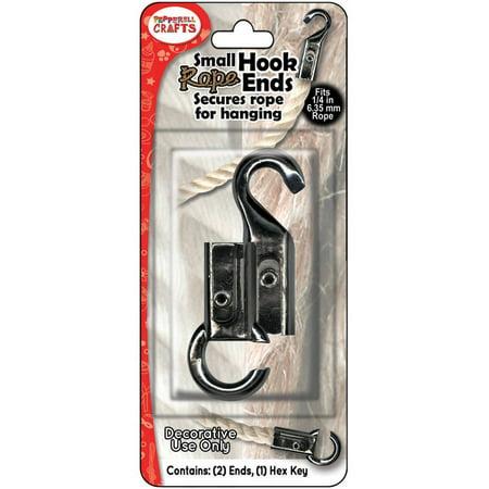 Rope Binding Hook - Pepperell Nautical Rope Hooks: Steel, .25 inches, 2 pk