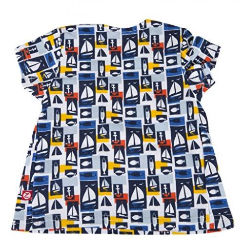 Zutano Short Sleeve Peasant Top- Maritime, 12 Months