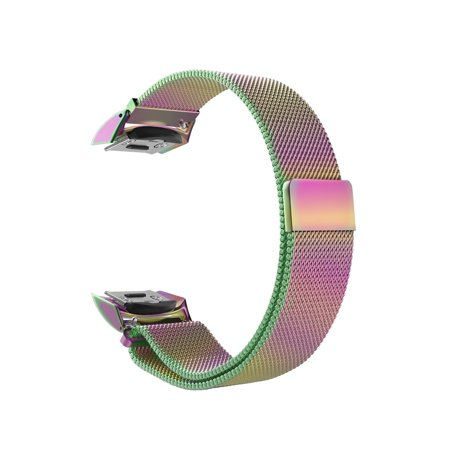 For Gear S2 Watch Band, [Unique Magnet Lock] Loop Adjustable Stainless Steel Replacement Bracelet Wristband,