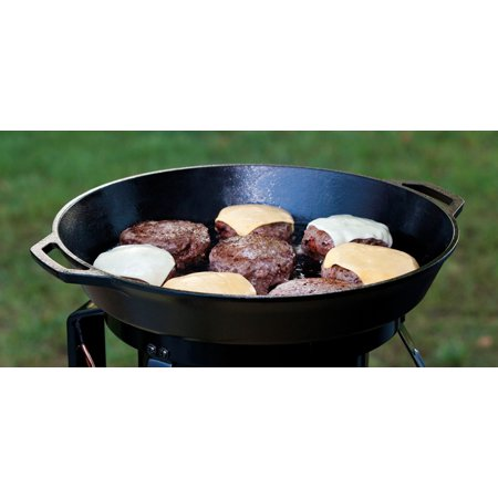 Lodge Logic 8 Inch Round Dual Handle Seasoned Cast Iron Pan, L5RPL3