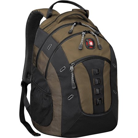 swissgear granite 16 laptop backpack with tablet pocket olive