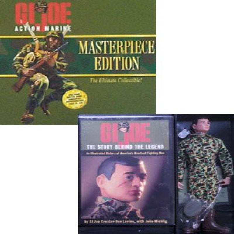 GI Joe Masterpiece Edition 12 inch Action Marine Brown Hair Action Figure Box Set by