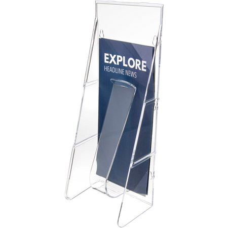 deflecto Stand Tall Literature Holder, 4 9/16w x 3 1/4d x 11 7/8h, Clear