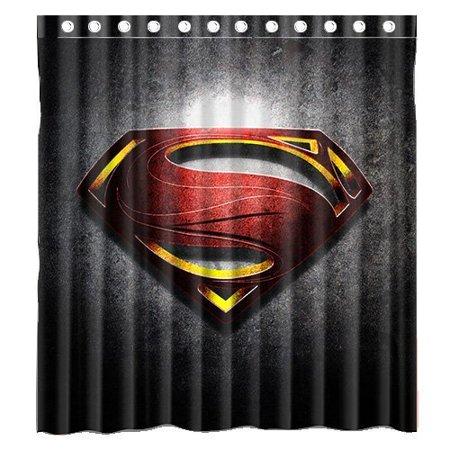Ganma Superman Shower Curtain Polyester Fabric Bathroom Shower Curtain 66x72 inches - Man Shower