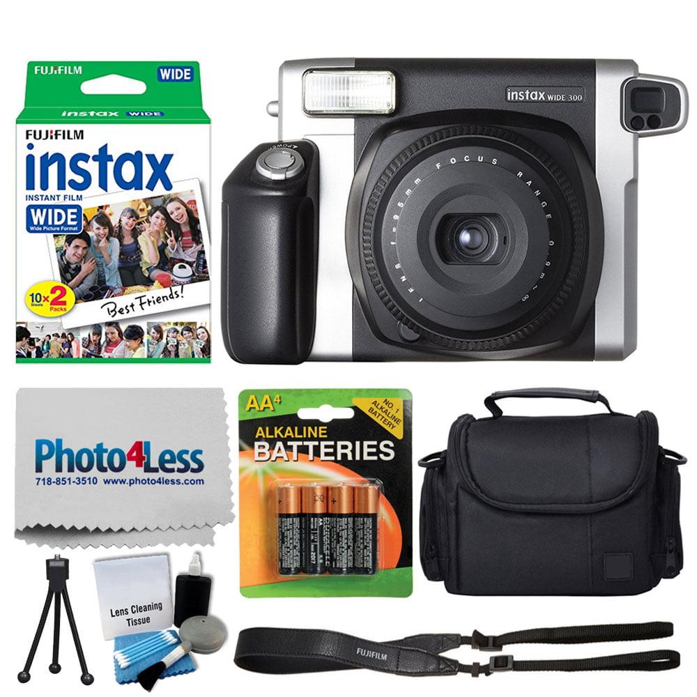 FujiFilm INSTAX Wide 300 Instant Film Camera + FujiFilm Instax Wide Instant Film Twin Pack (20 Shots) + Medium Case + AA... by Fujifilm