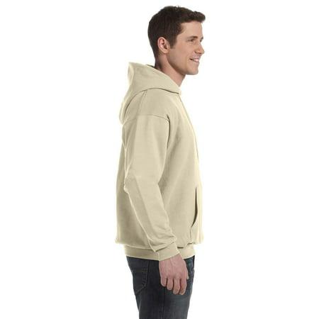 Big & Tall Men's EcoSmart Fleece Pullover Hoodie with Front - Gold Zip Hoodie