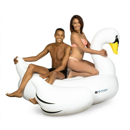Inflatables Giant White Swan Plastic Pool Float, 6' Wide (Giant Inflatable Pool)