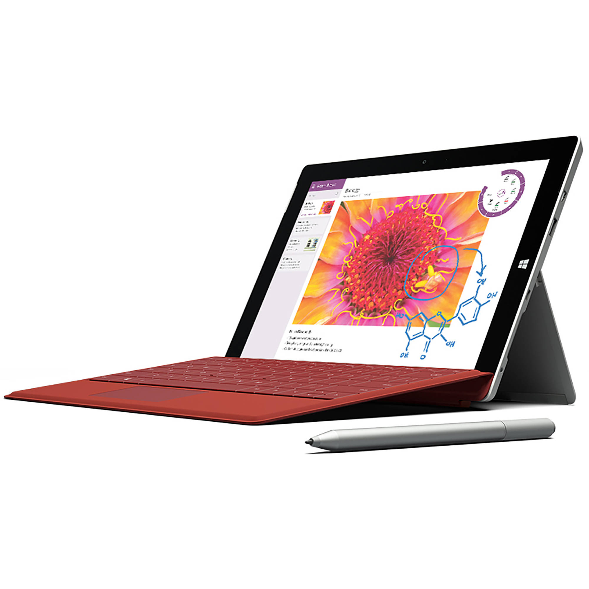 "Microsoft Surface 3 10.8"" Tablet 64GB Intel Atom x7 Z8700 Quad-Core Processor, Windows 10"
