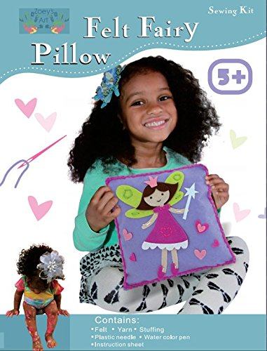 Sew and Stuff Kit. Fairy Pillow Ideal Kids Craft Kit Includes all Supplies. Fun Activity. Ages 5-12. All... by