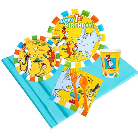 Dr Seuss 1st Birthday 24 Party Pack - Dr Seuss Party Decorations