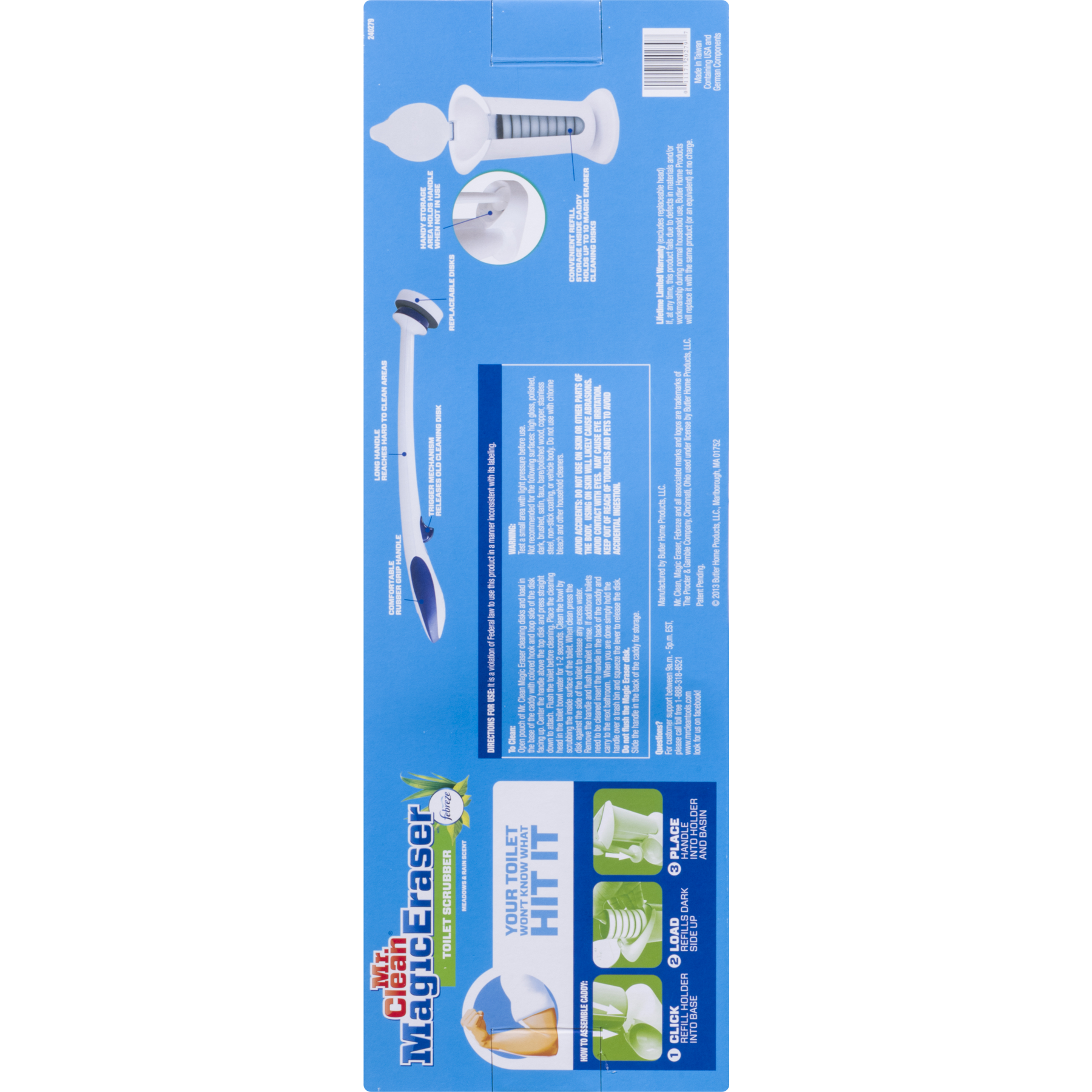 Mr Clean Magic Eraser Toilet Scrubber Walmart