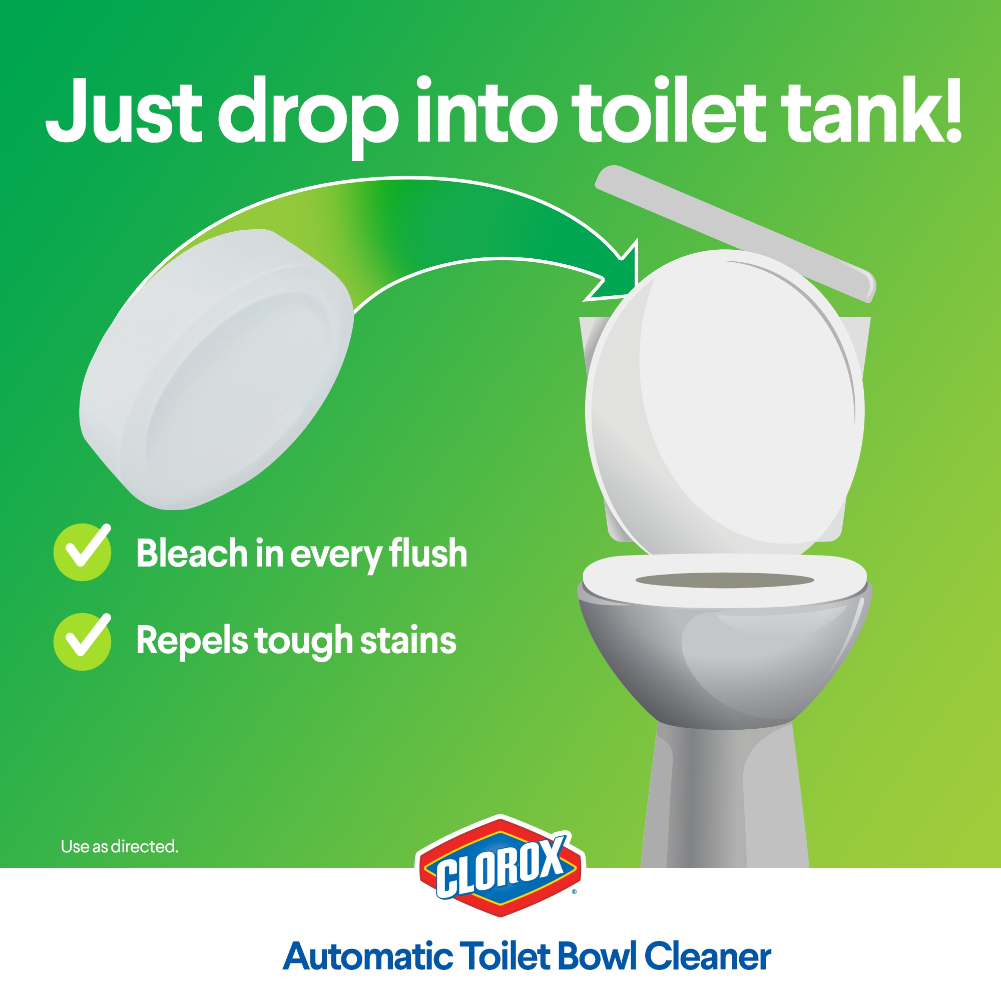 Clorox Automatic Toilet Bowl Cleaner Tablets with Bleach - 4 ct ...