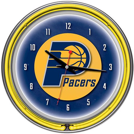 """Indiana Pacers NBA 14"""" Neon Wall Clock by"""