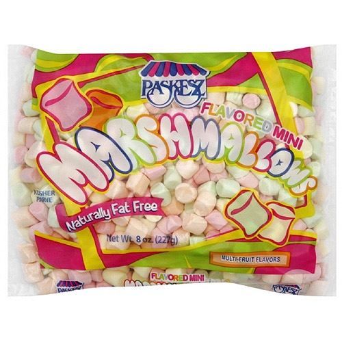 Paskesz Mini Flavored Marshmallows, 8 oz (Pack of 12)