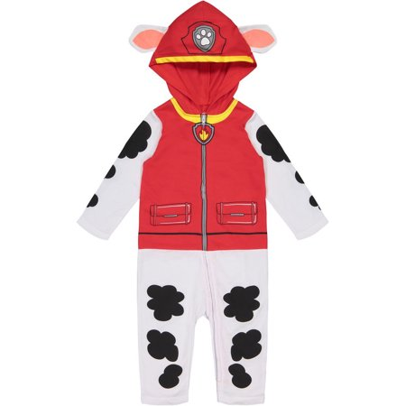 Paw Patrol Marshall Toddler Boys' Costume Coverall with Hood (4T)](4t Boy Halloween Costumes)