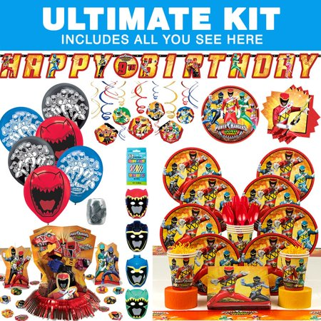 Power Rangers Dino Charge Birthday Party Ultimate Tableware Kit Serves 8