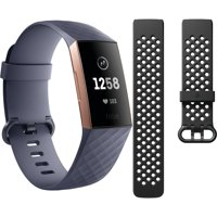 FitBit Charge 3 Rose Gold with Navy Bands and Additional Black Band