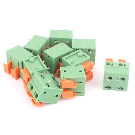 10 Pcs 7 62mm Pitch 2x2P PCB Spring Type Plug-in Terminal Blocks