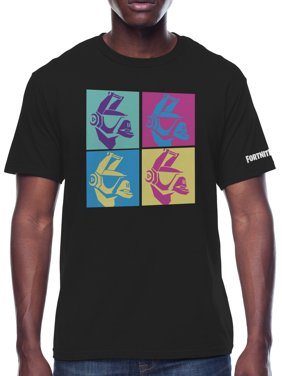Fortnite DJ Llama Grid Men's and Big Men's Graphic T-shirt