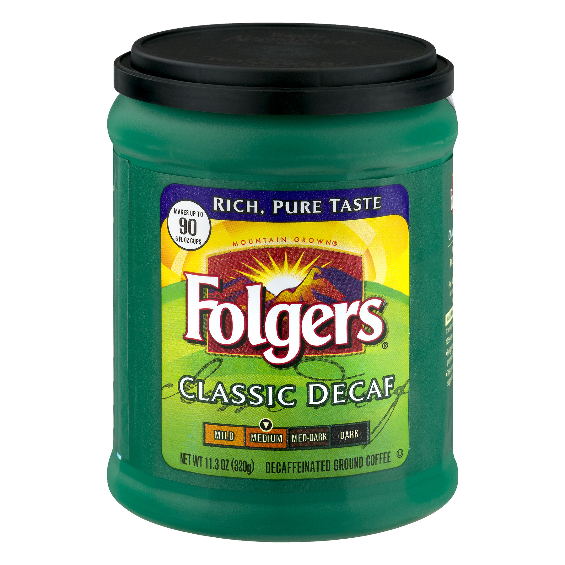 Folgers Classic Decaf Medium Ground Coffee, 11.3 oz