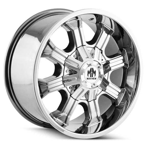 Mayhem 8102 Beast 20x9 8x180 0mm PVD Chrome Wheel Rim