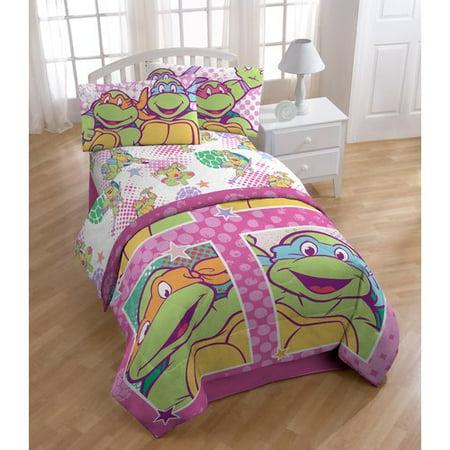 Shopkins Nickelodeon Teenage Mutant Ninja Turtles Shell Tastic Full Polyester 4 Piece Sheet Set - Teenage Mutant Ninja Turtles Pillow Case