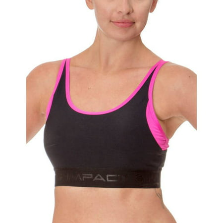 'Impact by Jillian Michaels Women's Performance Compression Sports Bra with Open Back