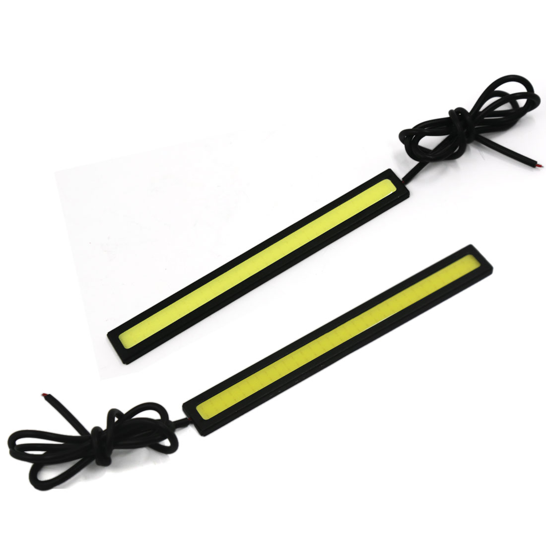 Unique Bargains 14cm Long White Auto Car COB  Daytime Running Light DRL Fog Lamp 12V 2PCS