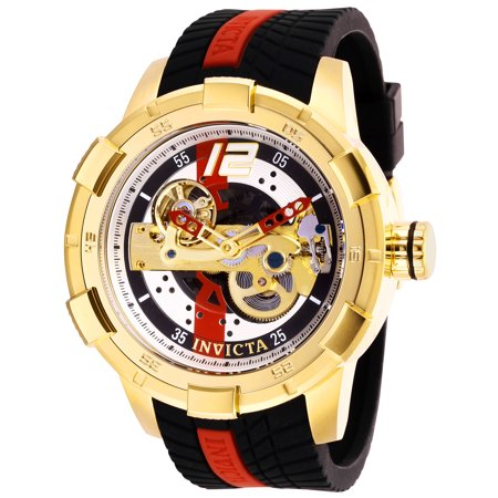 (Invicta Men's 28589 S1 Rally Automatic Multifunction Gold, Red, Black Dial Watch)