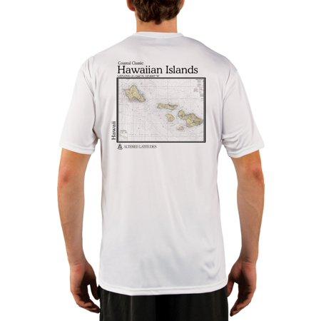 302e379ee Altered Latitudes - Hawaiian Islands Chart Men's UPF 50+ UV/Sun Protection  Short Sleeve T-Shirt - Walmart.com