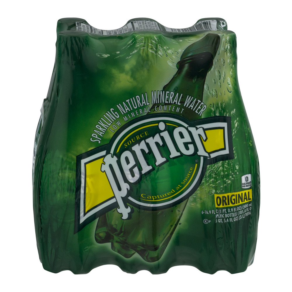 Perrier Sparkling Natural Mineral Water Original - 6 CT