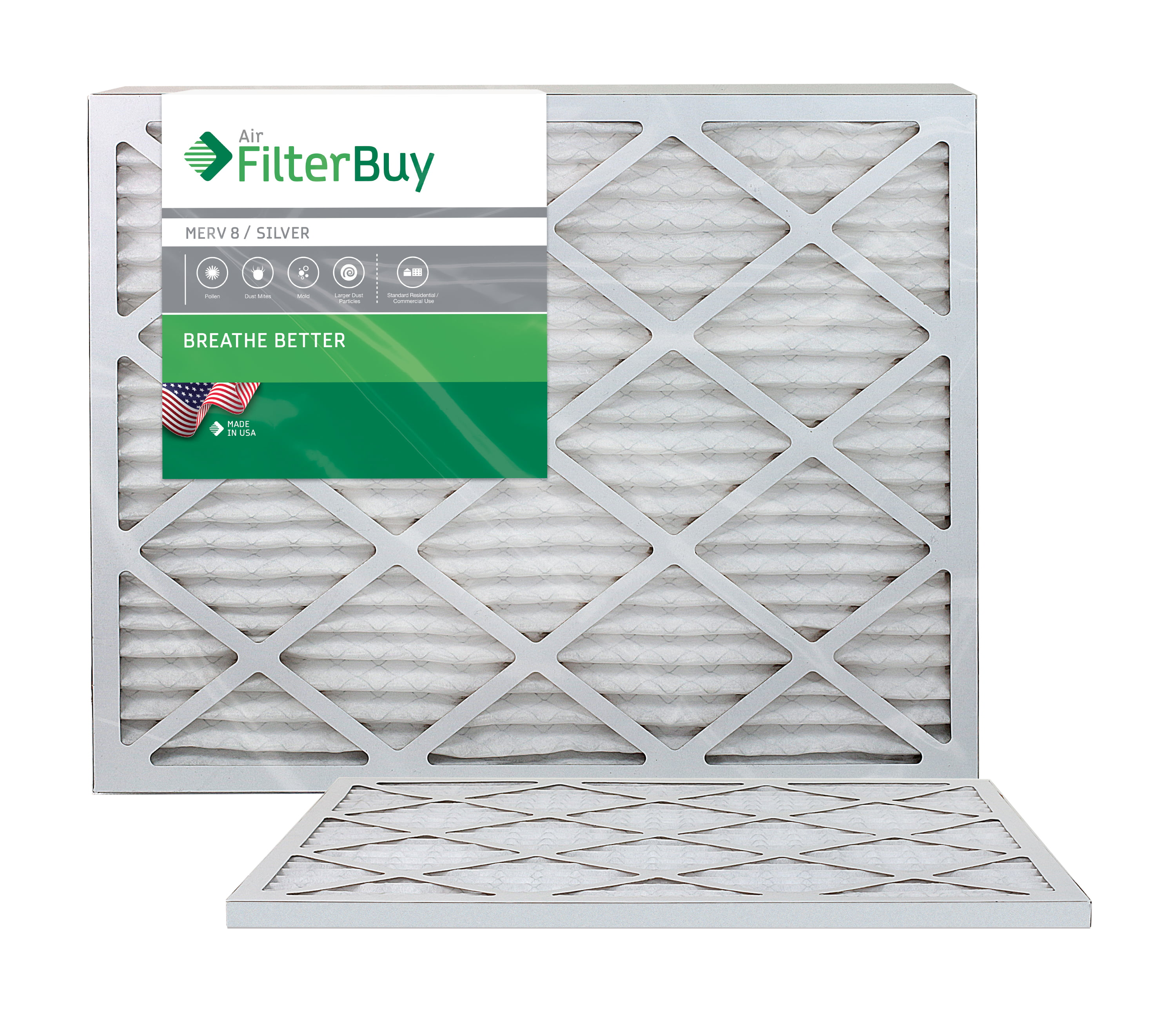 Gold Pack of 4 Filters FilterBuy 20x22x1 MERV 11 Pleated AC Furnace Air Filter, 20x22x1