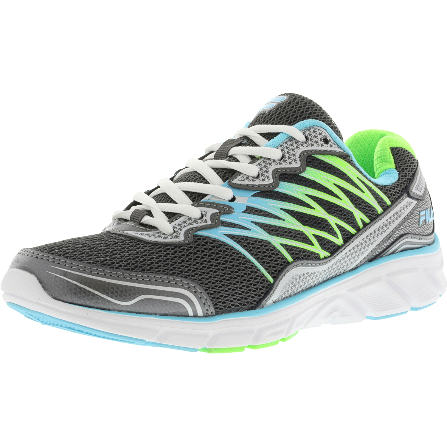 Fila Women's Countdown 2 Dark Silver   Bluefish Green Gecko Ankle-High Running Shoe 9M by Fila