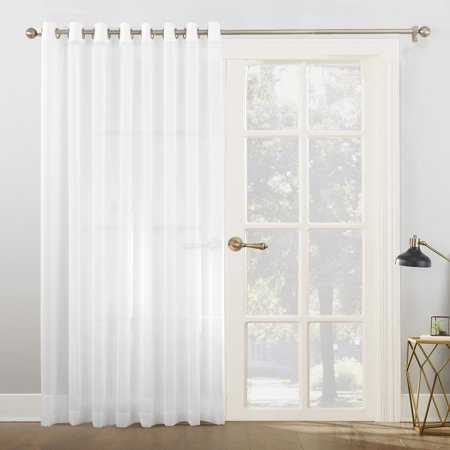(No. 918 Emily Extra-Wide Sheer Voile Sliding Door Patio Curtain Panel)